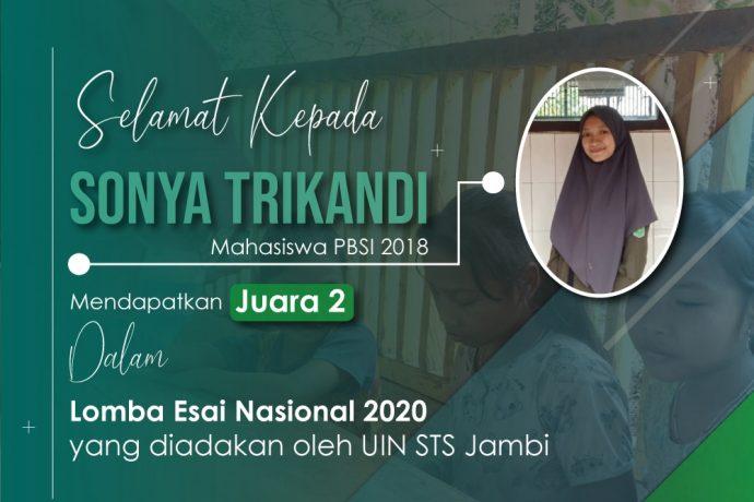 MAHASISWA PBSI PEMENANG LOMBA ESSAI TINGKAT NASIONAL TAHUN 2020